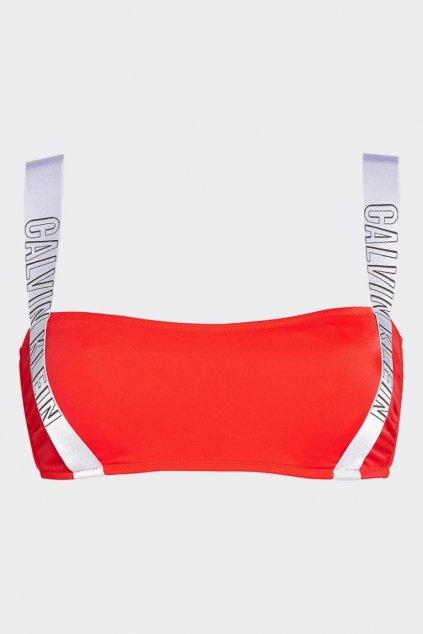 Calvin Klein intense power bandeau plavky vrchní díl - fiery
