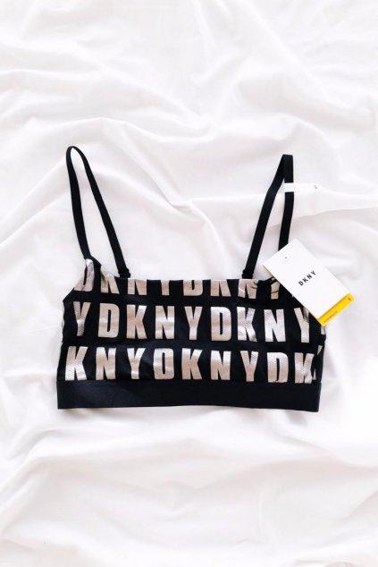 DKNY Cozy braletka - černá/stříbrná