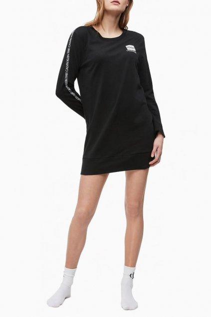 Calvin Klein dlouhé tričko 1981 Bold - černé