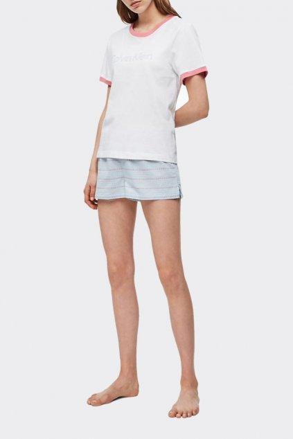 Calvin Klein tričko - pomelo/bílá