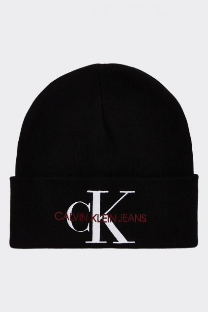 CK Jeans unisex beanie čepice - černá