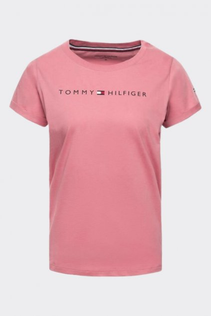 Tommy Original logo tričko dámské - dusty rose