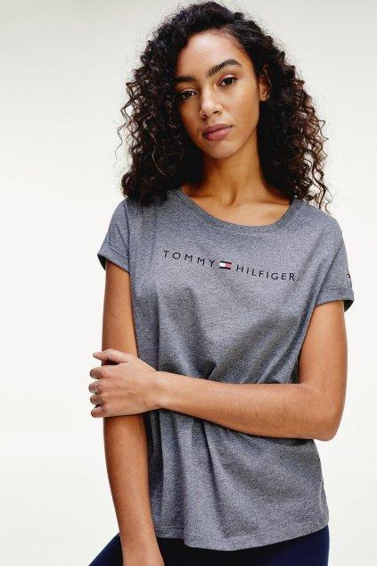 Tommy Original logo tričko dámské - šedé