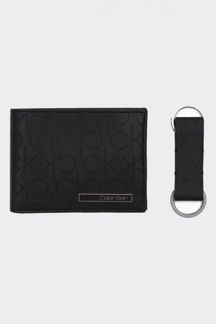 Pro něj! Calvin Klein dárková sada s monogramem peněženka + klíčenka