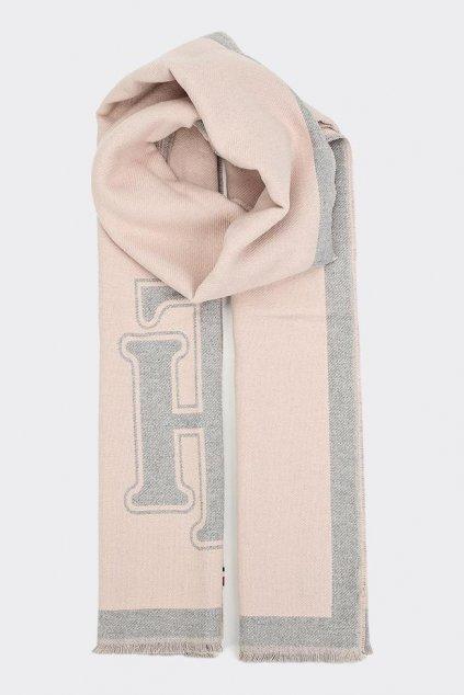 Tommy Jeans heritage logo šála dámská - světle růžová