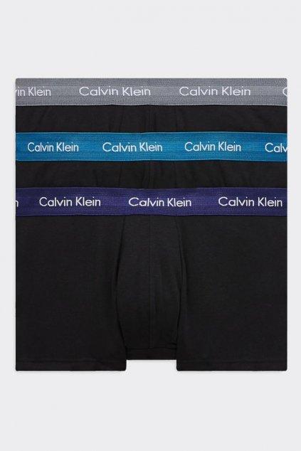 Calvin Klein Boxerky Premium 3 balení černé- šedá, modrá