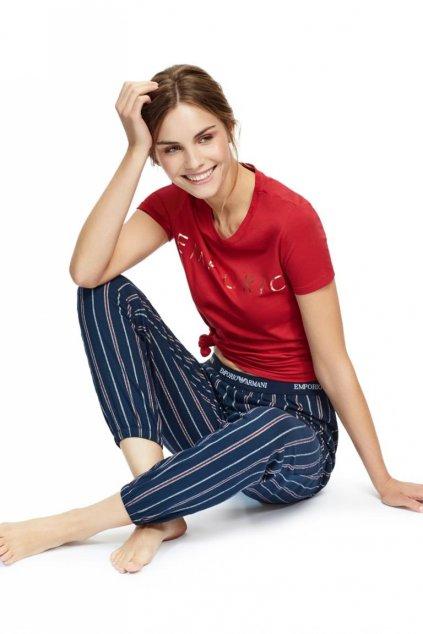 Emporio Armani Holy Cotton dámské tričko - červené