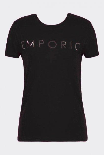 Emporio Armani Holy Cotton dámské tričko - černé