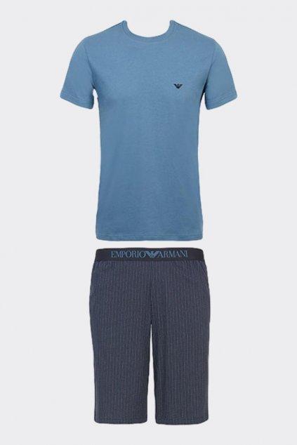 Emporio Armani pánský pyžamový set - modrý