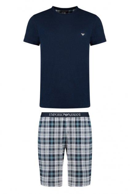 Emporio Armani pánský pyžamový set - tmavě modrý