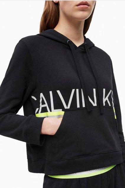 Calvin Klein NEON dámská mikina - černá
