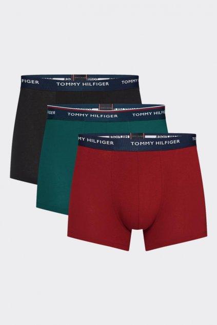 Tommy Hilfiger Boxerky Premium 3 balení - černá, vínová, zelená