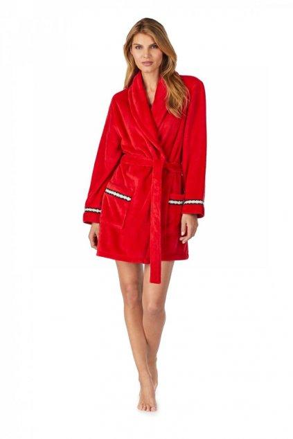 DKNY dámský župan s logem- červený