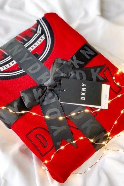 DKNY dámský set mikina a tepláky - červená