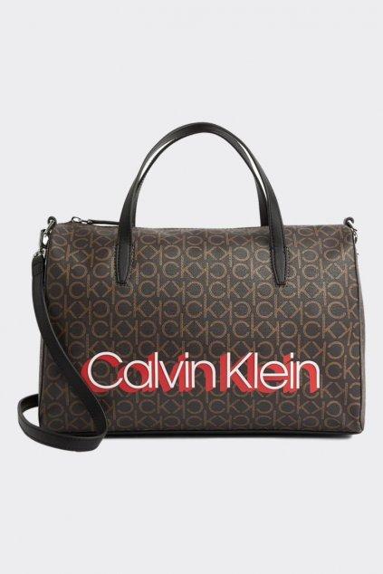 Calvin Klein monogram duffle kabelka - hnědá