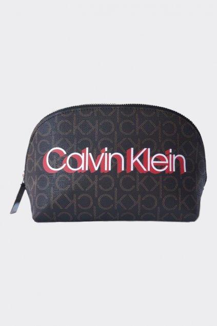 Calvin Klein monogram kosmetická taštička - hnědá