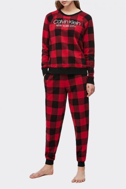 Calvin Klein Modern Cotton dámská mikina - černá/červená
