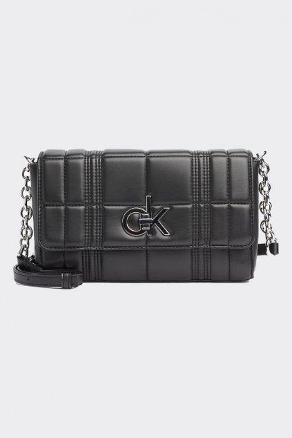 Calvin Klein large re-lock kabelka - černá