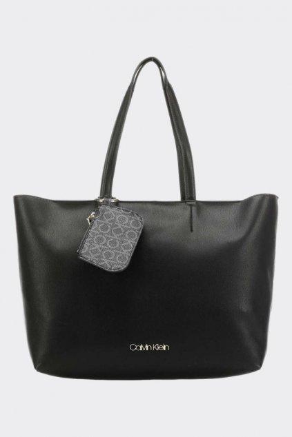 Calvin Klein monogram shopper kabelka - černá