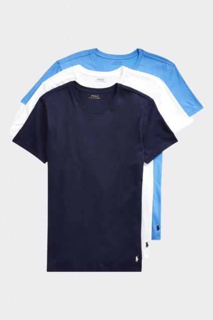 Polo Ralph Lauren 3-balení pánských triček - modrá, bílá