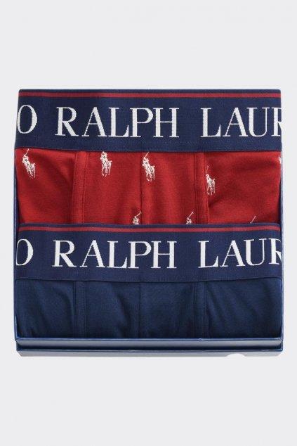 Dárkové balení Polo Ralph Lauren boxerky 2- balení - tmavě modrá, vínová