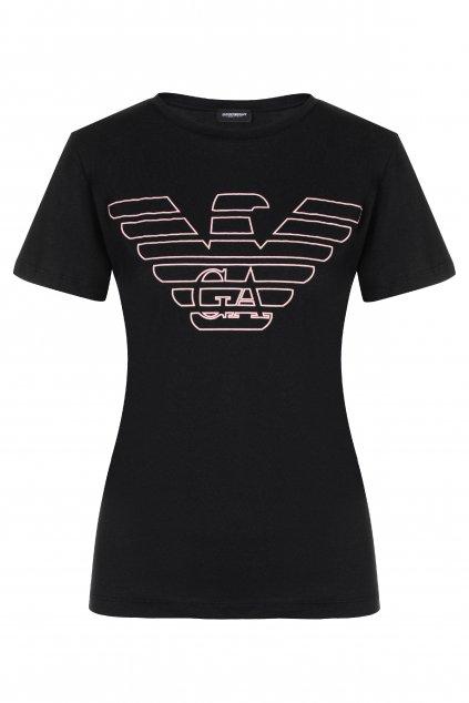 Dárkové balení Emporio Armani dámské tričko z organické bavlny - černé