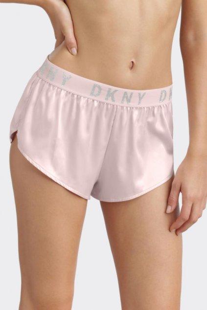 DKNY Satin šortky dámské - světle růžová