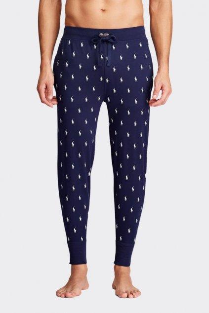 Polo Ralph Lauren pánské tepláky allover logo - tmavě modré