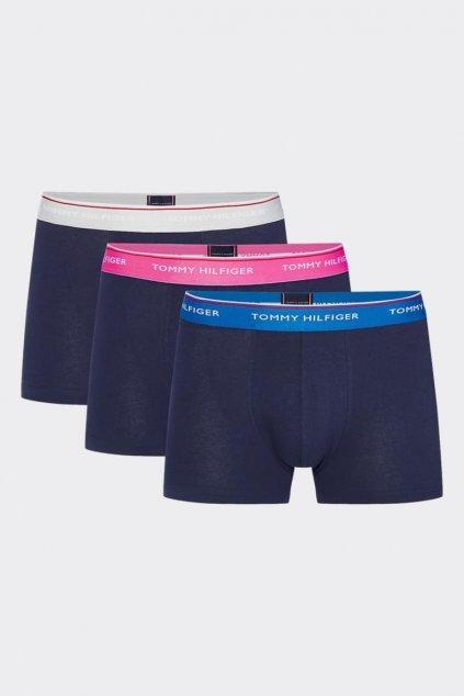 Tommy Hilfiger Premium Boxerky 3 balení -  šedá, růžová, modrá