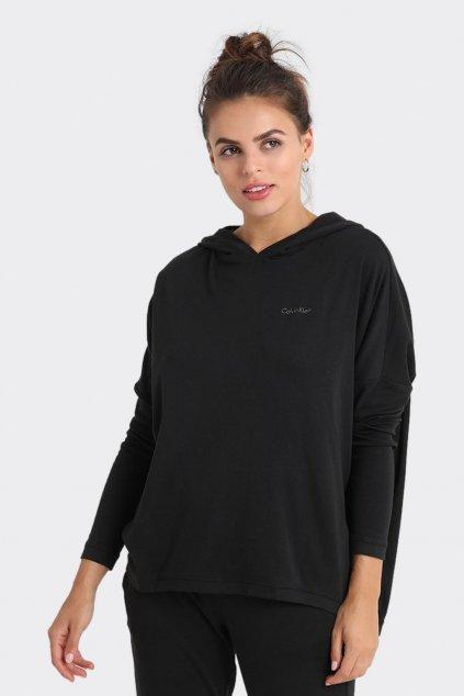 Calvin Klein logo mikina dámská - černá