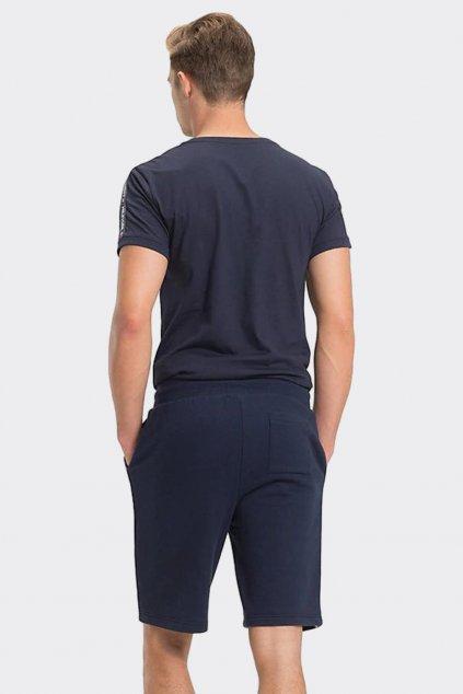 Tommy Hilfiger side logo pánské šortky - tmavě modré