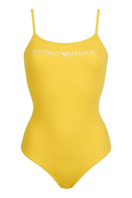 Emporio Armani jednodílné plavky - žluté