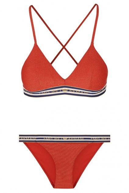 Emporio Armani set plavek - červená