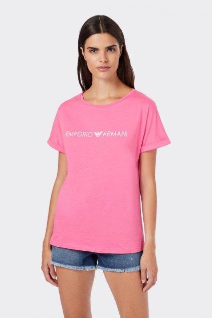 Emporio Armani Logo tričko- růžové