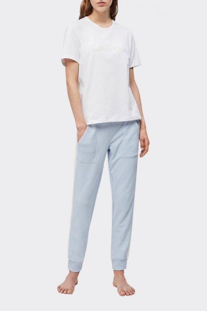 Calvin Klein tričko dámské - bílé se zeleným nápisem