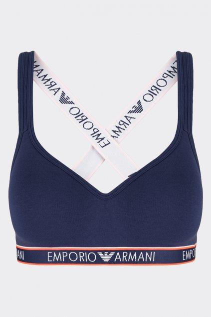 Emporio Armani Logoband Podprsenka lift vyztužená - tmavě modrá