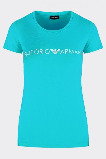 Emporio Armani iconic tričko dámské - tyrkysová
