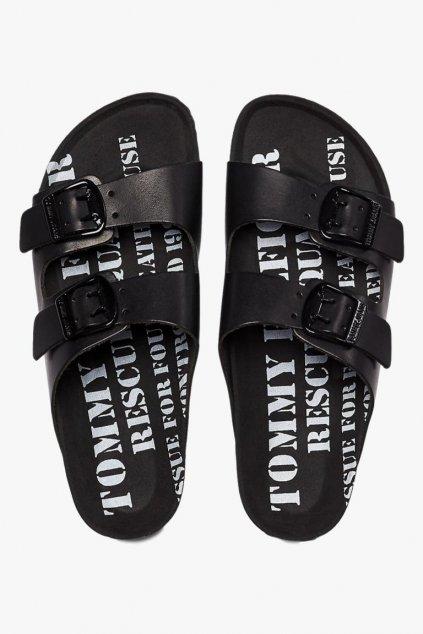 Tommy Jeans sandále dámské - černá