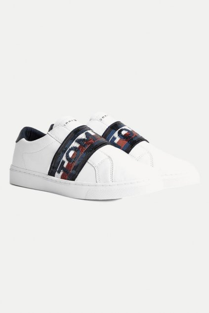 Tommy Jeans slip-on tenisky - bílá