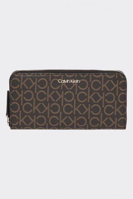 Calvin Klein monogram peněženka - hnědá