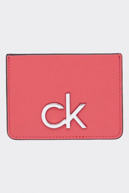 Calvin Klein pouzdro na karty - korálová