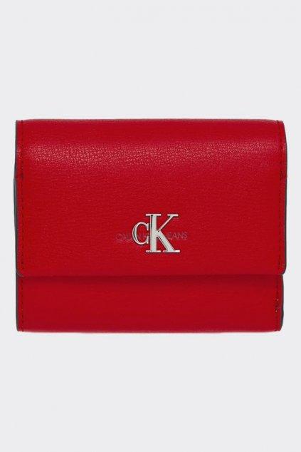 Calvin Klein peneženka s monogramem - červená