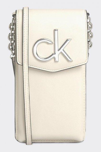 Calvin Klein crossbody kabelka na telefon - béžová