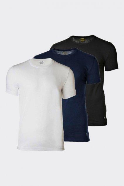 Polo Ralph Lauren 3-balení pánských triček - černá, bílá, tmavě modrá