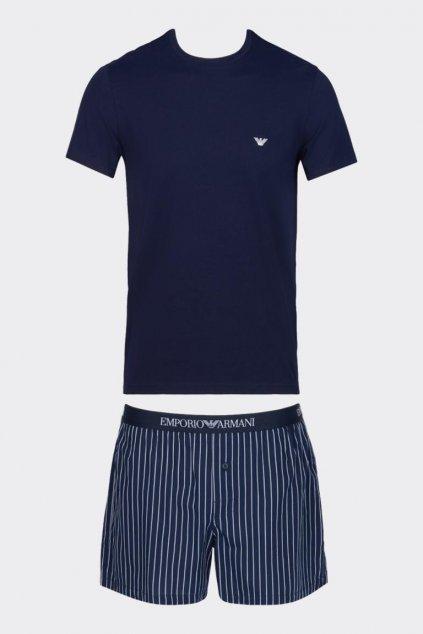 Emporio Armani pánský pyžamový set - tmavě modrá