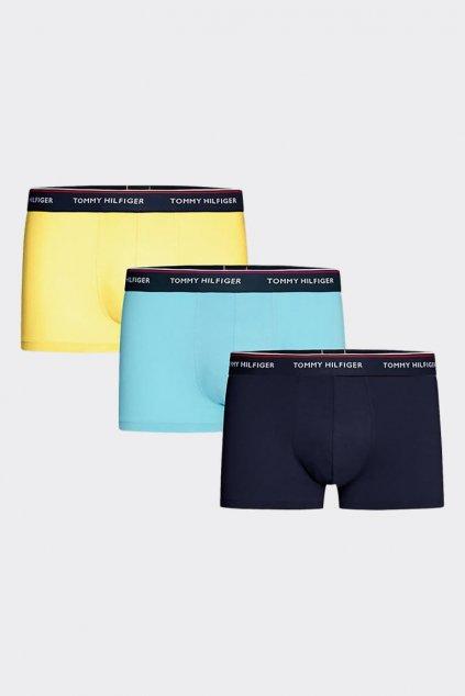 Tommy Hilfiger Premium Boxerky 3 balení -  modrá, žlutá