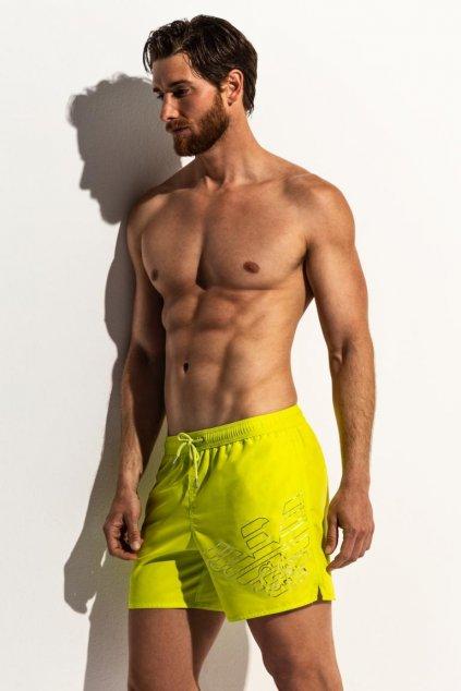 Emporio Armani plavky pánské - žlutá