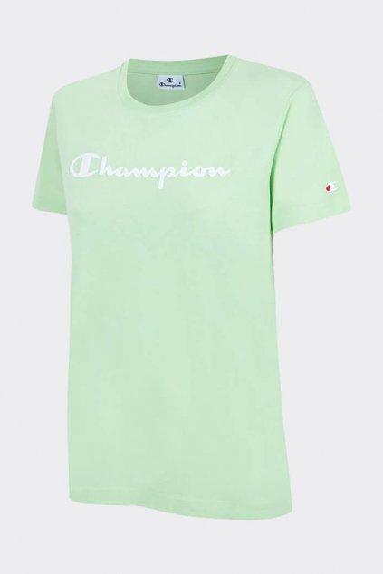 Champion dámské logo tričko - zelená