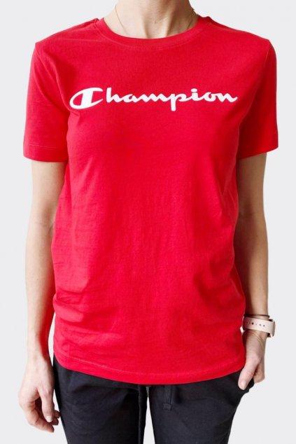 Champion dámské tričko velké logo - červená