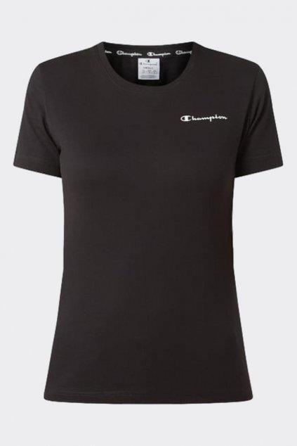 Champion dámské tričko malé logo - černá